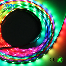 New arrival 5 mtr DC 5V Individually Addressable Color IP65 Waterproof 5050 SMD RGB LED Strip Lighting White PCB 60 LEDs/M