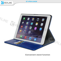 Customized stand tablet case for ipad air 5 leather