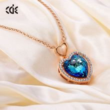 CDE Wholesale Accessories Jewelry Jewelries Crystal Rainbow Sapphire Unique Sex Girl Necklace