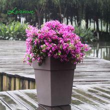 Coloured plastic plant pots different types flower pots, decorative planter indoor or outdoor