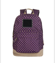 FuYuan 2017 purple leisure ultralight soft fabric lining kids canvas backpack with seven colors choose