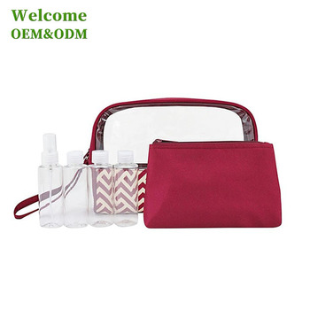 KID cheap small mesh custom fashion women promotional travel cosmetic bag