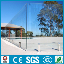 CE Standard 3-19mm Tempered Glass Fence Panel