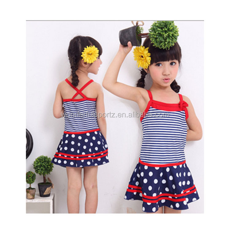 brand name one piece child monokini kid swimwear