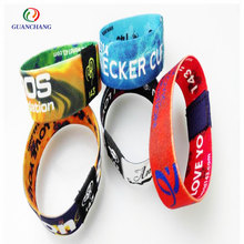 Fashion polyester cheap fabric bracelet for promotional gift