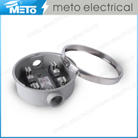 Meto 100a Round Single Phase Electricity bypass meter socket/meter base/meter case with plug