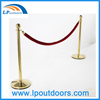 Stainless Steel Crowd Control Rope Queue Barrier Poles Stand