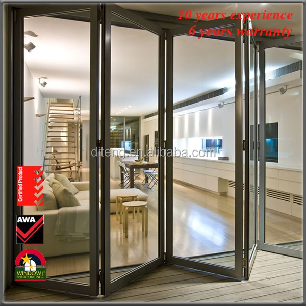 Sound Proof Doors and Fire Proof Luxury Entry China Tempered Folding Lowes Cold Room Commercial Automatic Sliding Glass Doors