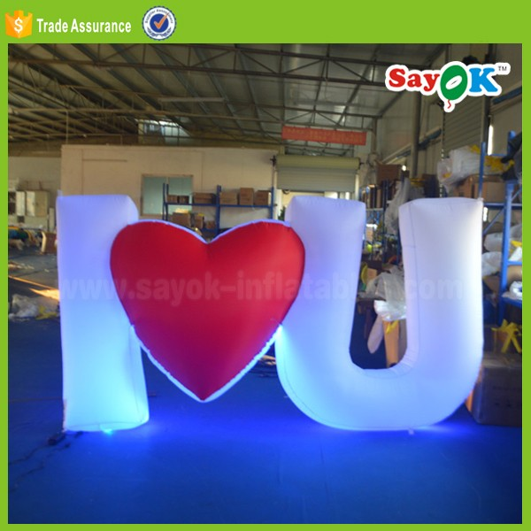 inflatable LOVE ball led love letters ball stage decoration with inflatable led letter