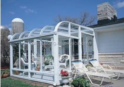 insulated glass house/green house /sunroom/wood aluminum sunroom Quality Assured Most Popular