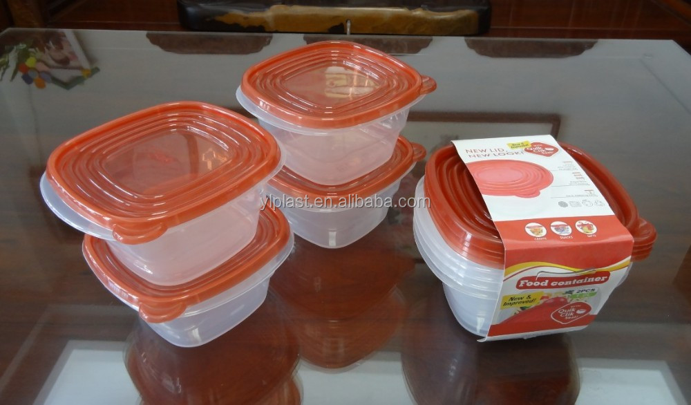 Good selling 4 pcs plastic food storage container 1200ml
