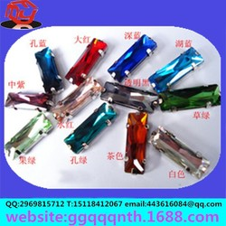 clothing supplementary material Taiwan imported T rectangular point back acrylic diamonds