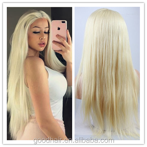 natural looking blonde real human hair wigs 613 glueless full lace wig