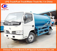 Dongfeng small fecal suction truck, Suction depth >= 10m 6cbm vacuum sewer cleaning truck, mini sewage suction truck for sale