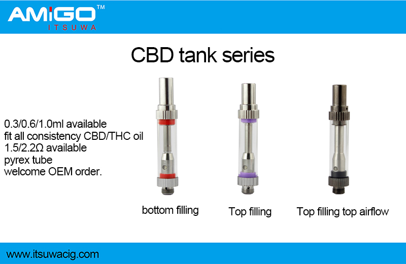 510 Atomizer wickless ecig cbd clearomizer