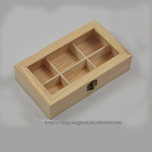 Custom Wooden 6 Section Jewelry Box Organizer