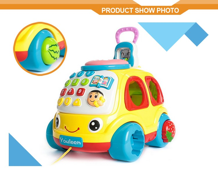 Multifunction phone vehicle kids educational toys