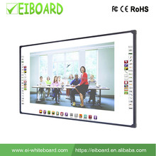 "OEM multi-touch 82"" 96"" 2 touch 4 touch optical interactive smart white board for teaching"