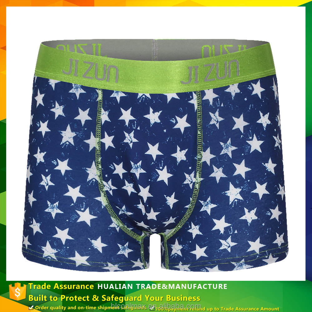 Sexy Custom Boxer Cotton Elastic Waist Sublimation Men's Underwear