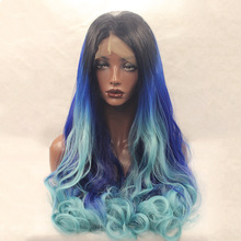 Alibaba express cheap ombre big curl cosplay synthetic wig lace front synthetic hair wig