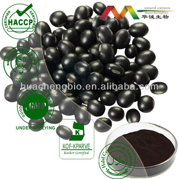 High Quality Black Beans Extract 1%~36% Anthocyanidins