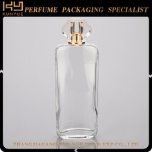100ml perfume container, crystal perfume bottle with fancy cap