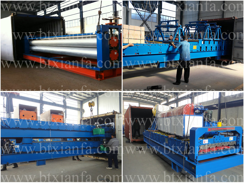 Blue Metal Side Board Roll Forming Machine