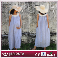 Wholesale Fashion Summer Nursing Dress Midi Maternity Dress For Pregnant Women