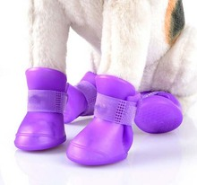Brand new Lovely Portable Pet Dog Waterproof Boots Rain Shoes