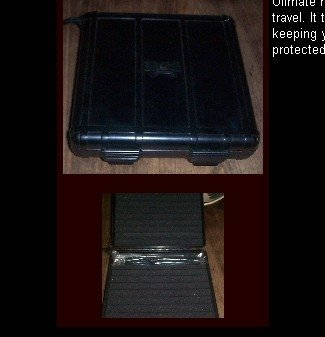 ABS Hard Shell 10 Cigar Case W/Humidifier Humidors