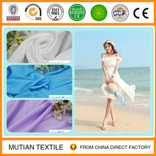 polyester satin chiffon with crinkle effect high class imitated silk for fashion apparel