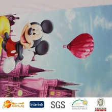 comfortable breathable mickey mouse lycra printing fabric