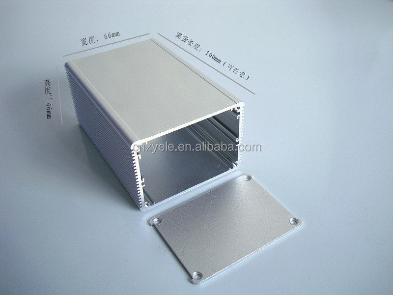Aluminum Enclosure for PCB POWER shell Electric project box DIY 66*46*100mm