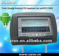 New 7 inch android WiFi 3G headrest monitor car pc