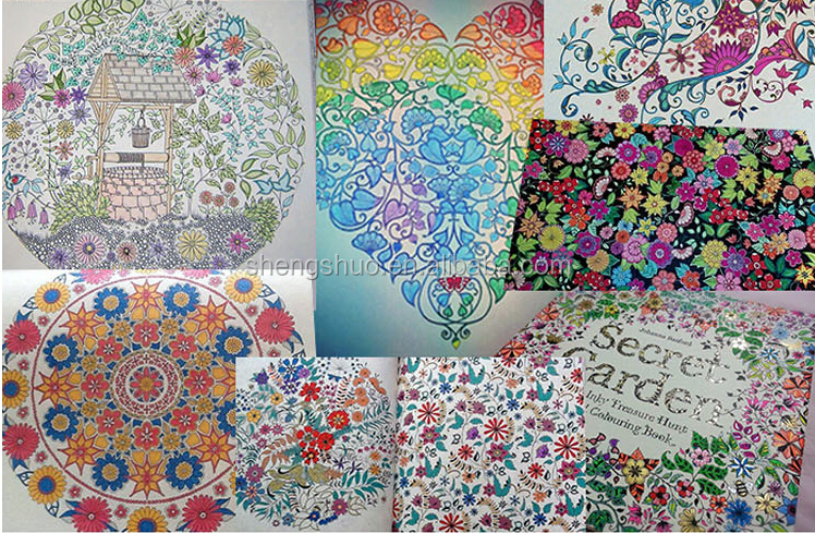 All Kinds Of Secret Garden Hand Drawing Color Books In