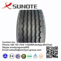 china tire supplier 385/65r22.5 trailer tyre with cheap natural rubber