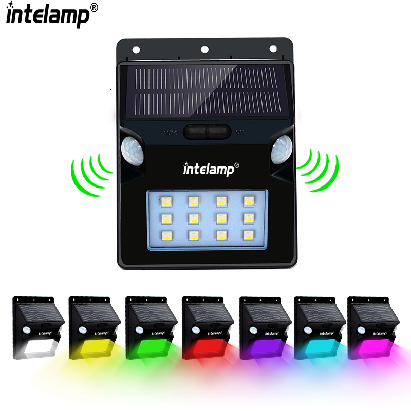 12LED outdoor solar light Solar Powered Motion Sensor Wall Lights, Wireless Waterproof LED Step Night Light Security