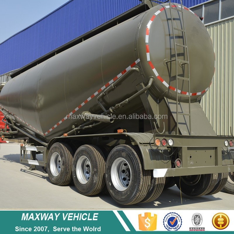 3 Axles 32CBM Dry Bulk Powder Tank Bulk Cement Tanker Semi Truck Trailers