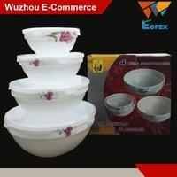 4 PCS porcelain dinner sets opal glassware bowl