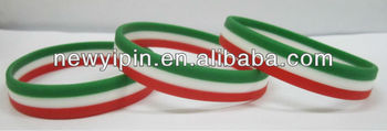 Customized colors of the multi colors silicone bracelets