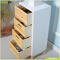 Wooden photo organizer box with charging valet