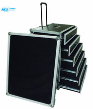 Custom flight case with drawer/aluminum trolley with wheels
