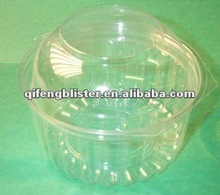 PET clamshell blister plastic box for fruit vegetable container