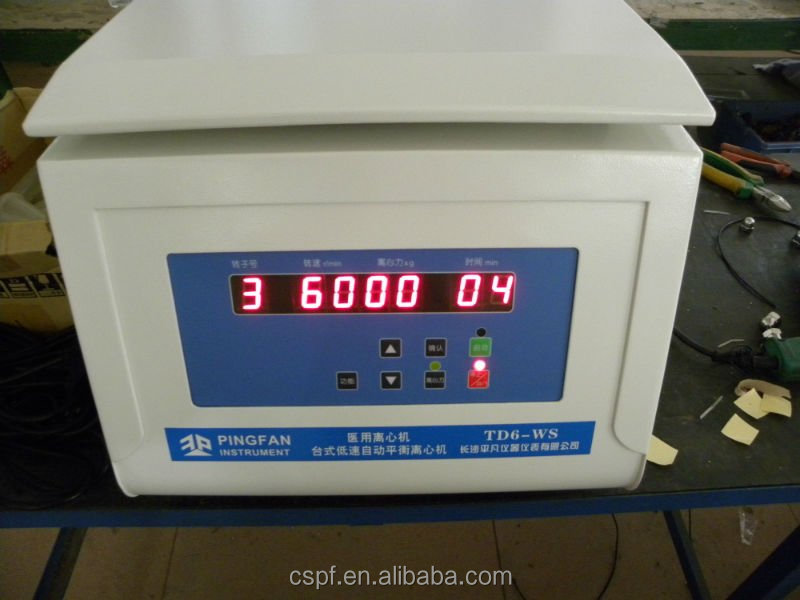 Model TD6 Table Top Low Speed blood centrifugation machine