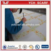 good price custom made 100 pure silk scarf white for painting