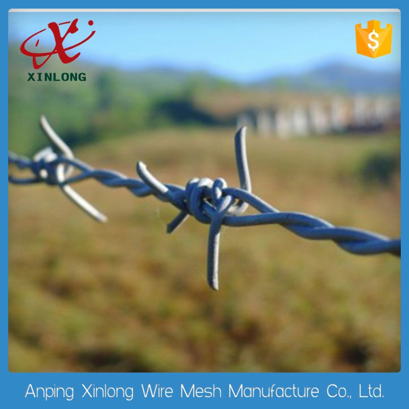 Hot galvanized iron chain link fence barbed wire