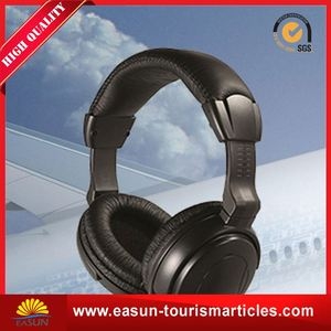 Popular disposable airplane earphone cheap airline headphone headset aviation