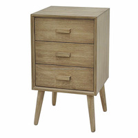 Wood side table 3 drawer accent dresser chest