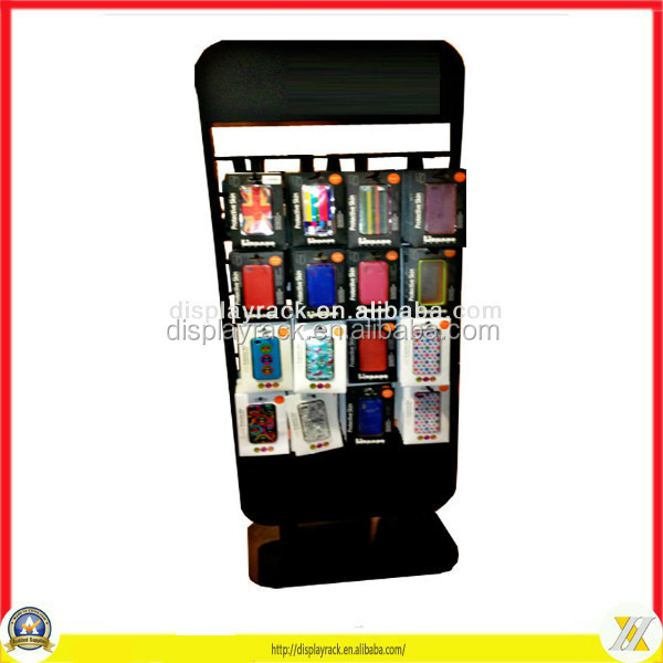 customize cell phone case metal rack/cell phone accessories display rack/phone case display rack