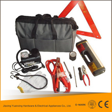 Promotional custom car emergency tool kit with air compressor